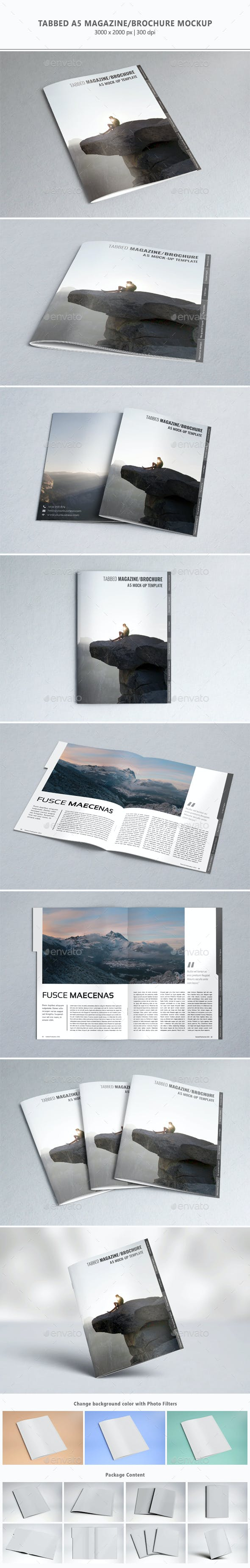 tabbed a5 magazine brochure mock up by sealord graphicriver