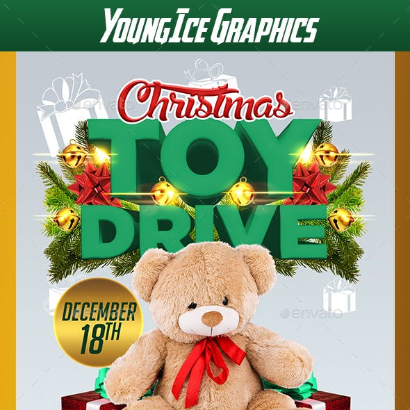 Christmas Toy Drive Flyer Template V2