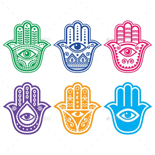 hamsa hand graphics designs templates from graphicriver