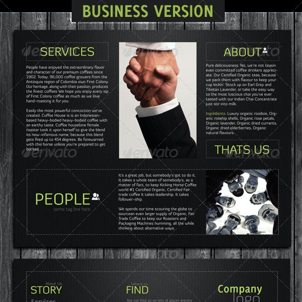 Business And Coffee Brochure