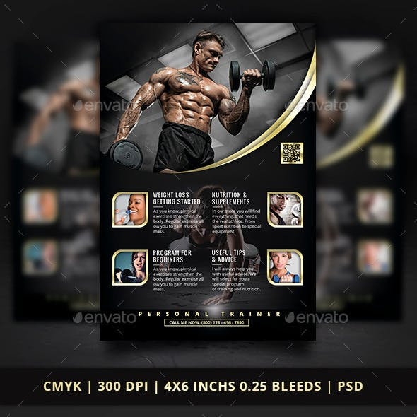 personal trainer flyer graphics designs templates