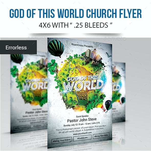 Rock Bible and Family Church Flyer Templates from GraphicRiver