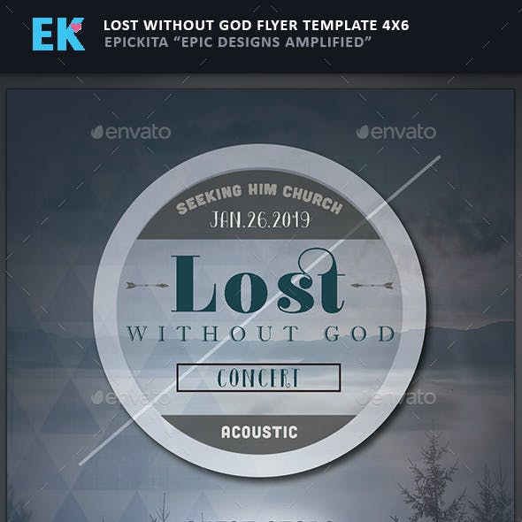 lost calm and jesus event flyer template from graphicriver