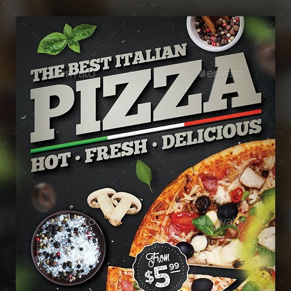 pizza flyer template graphics designs templates