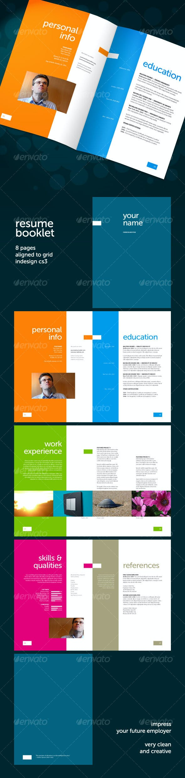 resume booklet 8 pages by geertdd graphicriver