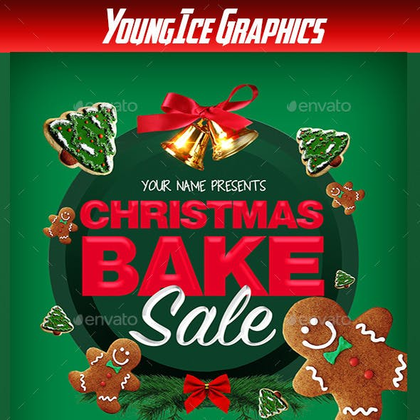 Christmas Bake Flyer Template