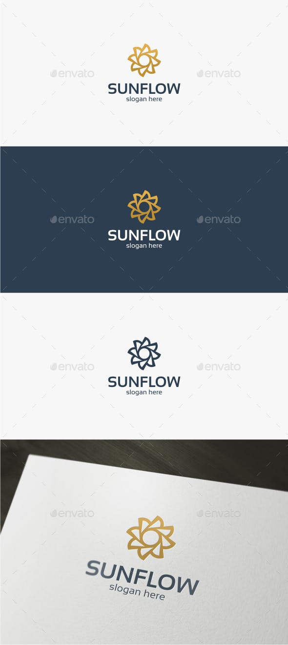 sun flower logo template by trustha graphicriver