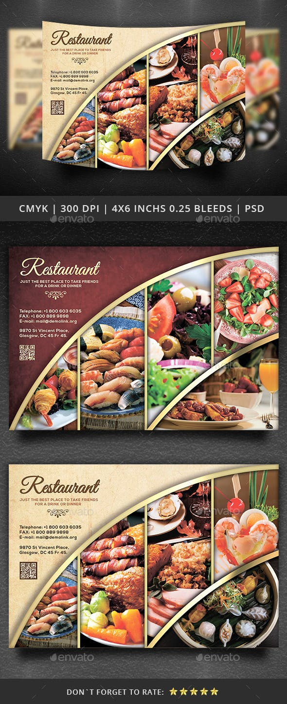 restaurant flyer template by yoopiart graphicriver