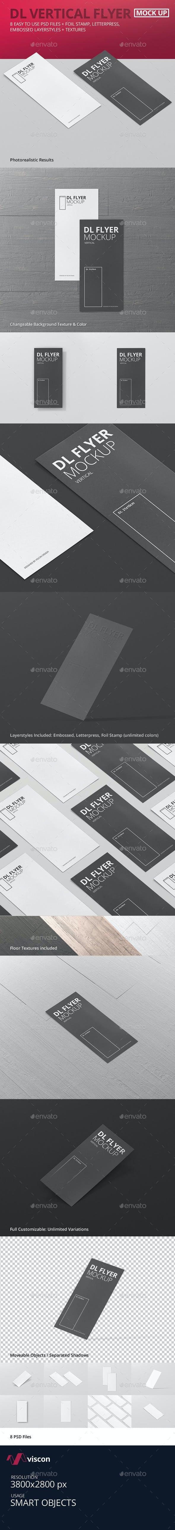 dl vertical flyer mockup by visconbiz graphicriver