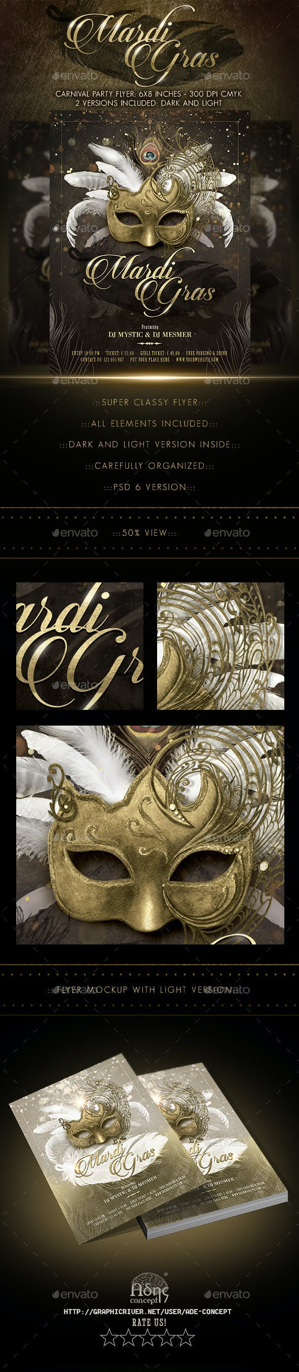 mardi gras masquerade ball flyer by serenasorrenti graphicriver