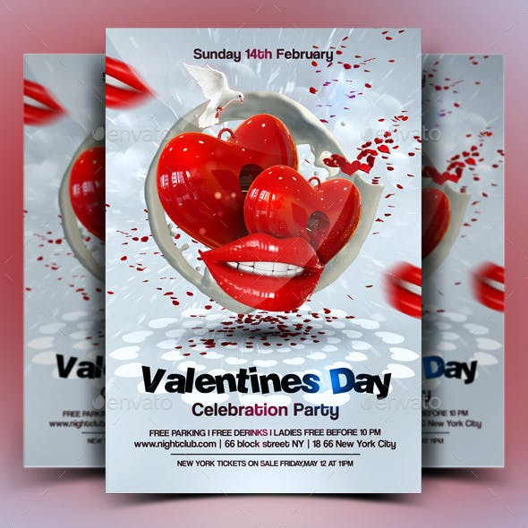 Heart and Lips Graphics, Designs & Templates from