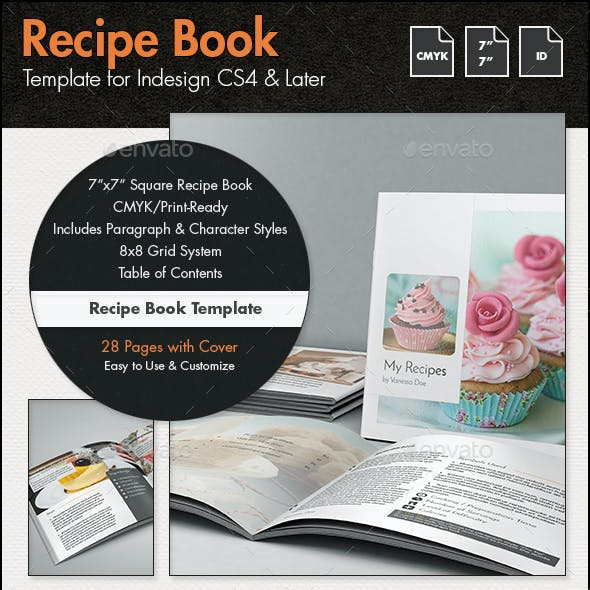 recipe book template 7x7in by sthalassinos graphicriver.html