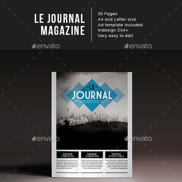 Le Journal Magazine Indesign Template
