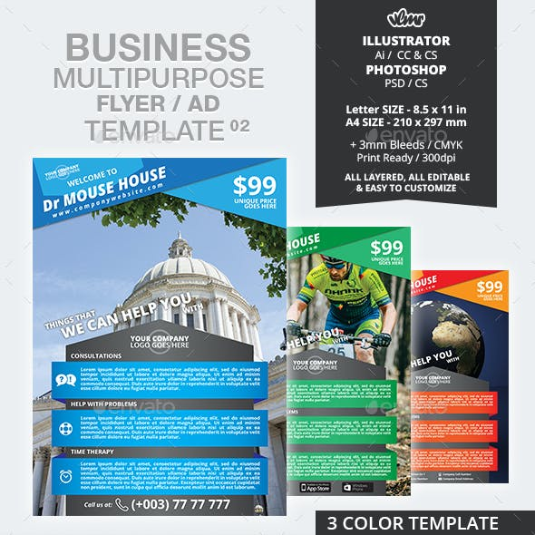 Business Multipurpose Flyer Ad Template 02