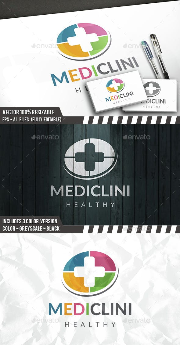 medic logo template by bosstwinsart graphicriver
