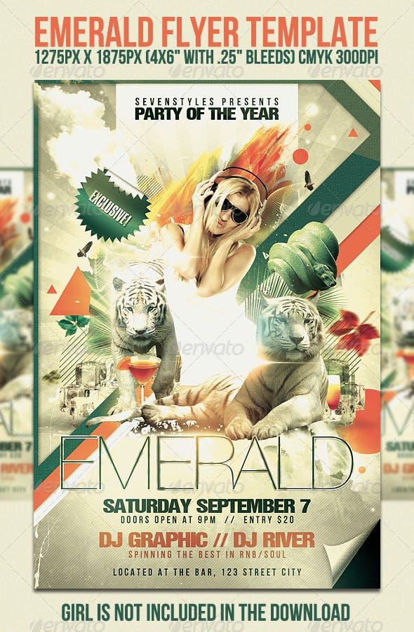 Emerald Flyer Template | Emerald Flyer Template By Sevenstyles Graphicriver