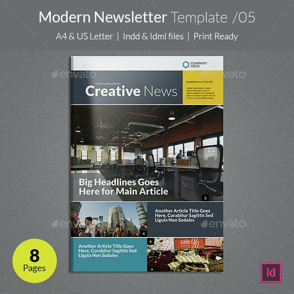 multipage newsletter graphics designs templates page 2