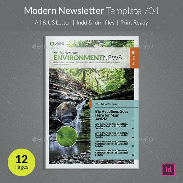 corporate newsletter templates from graphicriver page 8