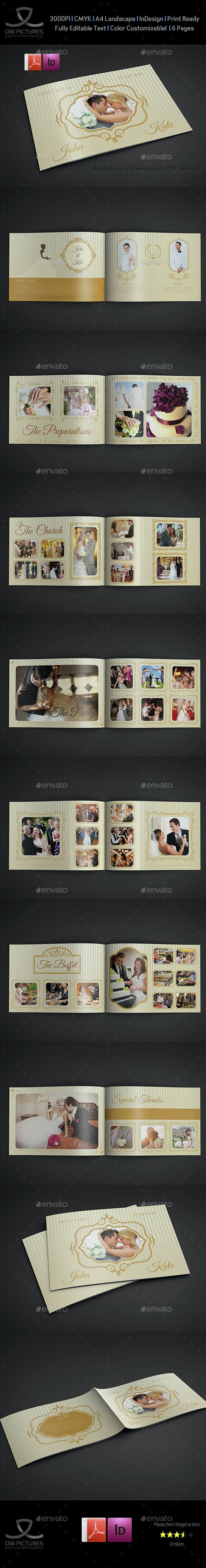 Wedding Al Template 16 Pages Photo Als Print Templates