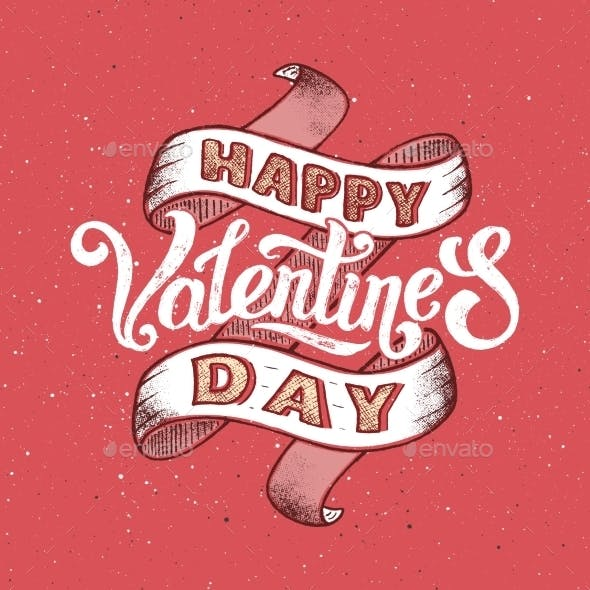 Happy Valentines Day Vintage Poster By Yurlick Graphicriver