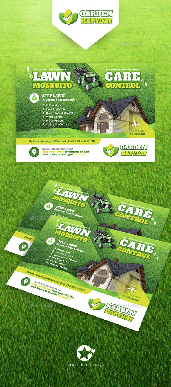 garden landscape flyer templates by grafilker graphicriver
