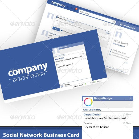 Network Business Card Templates Designs From Graphicriver