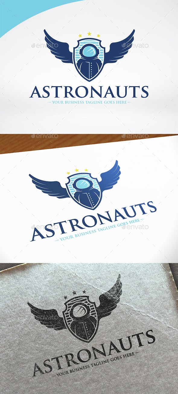 astronaut crest logo template by bosstwinsmusic graphicriver