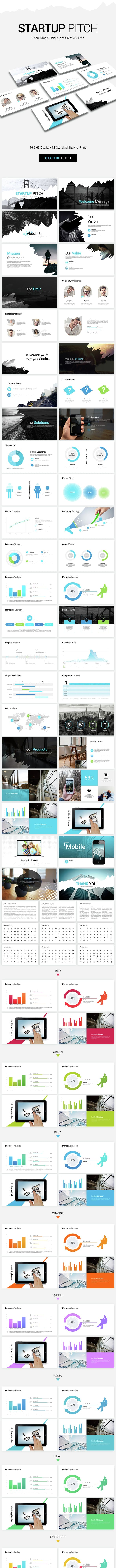 startup pitch presentation by pptx graphicriver