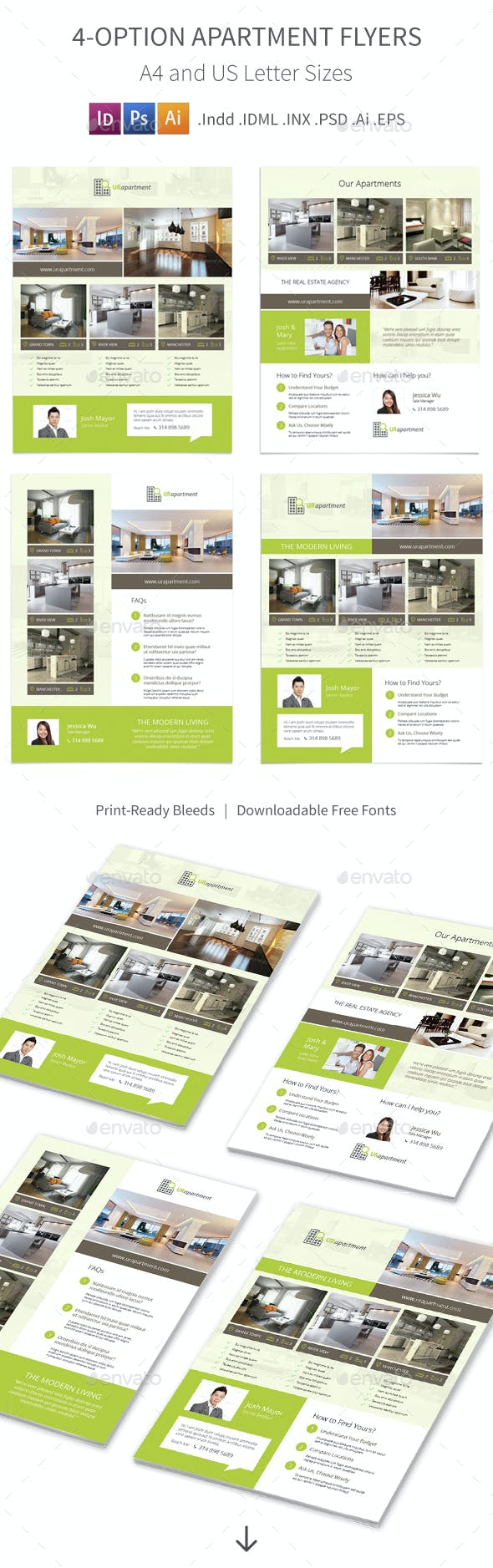 apartment for rent flyers 4 options by mike pantone graphicriver