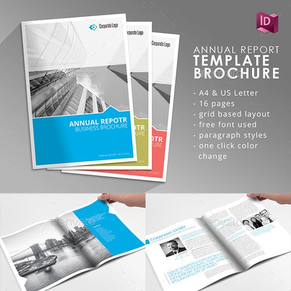 annual report template indesign graphics designs templates