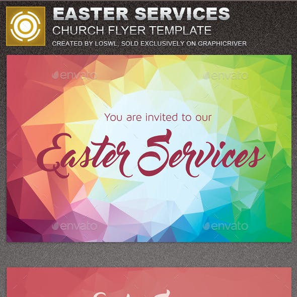 easter church flyer graphics designs templates