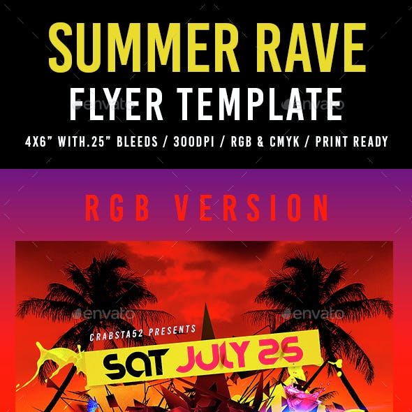rave flyer graphics designs templates from graphicriver