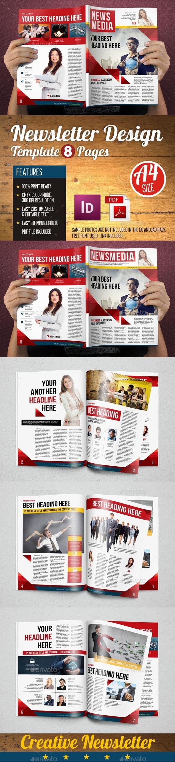 Newsletter Design Template Vol 5 By Hiro27 Graphicriver