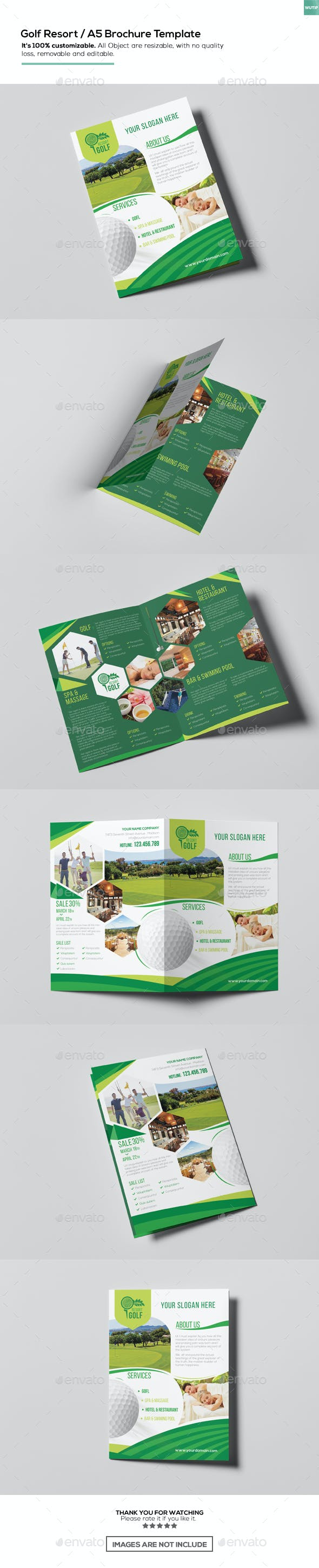 golf resort a5 brochure template by wutip2 graphicriver