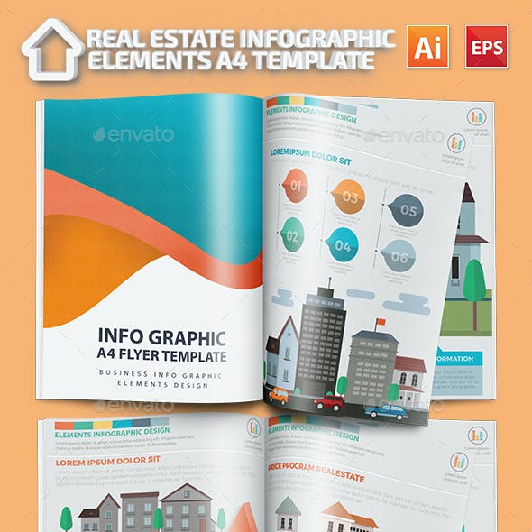 estate infographic templates from graphicriver
