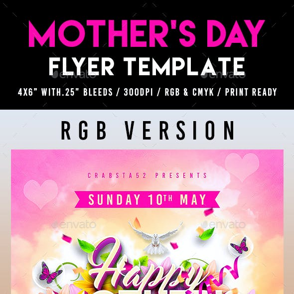 mother s day flyer template graphics designs templates