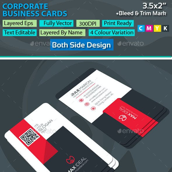 Corporate business card templates designs with graphics files corporate business cards friedricerecipe Gallery
