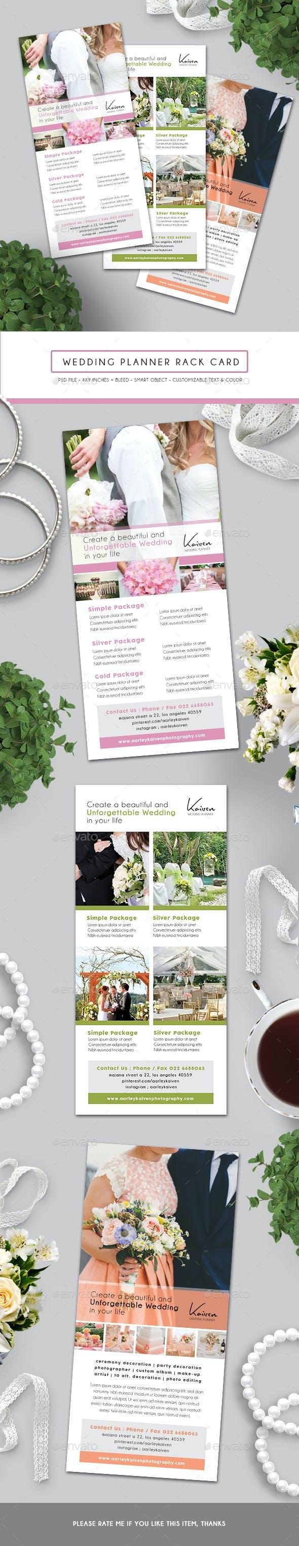 wedding planner rack card by arifpoernomo graphicriver