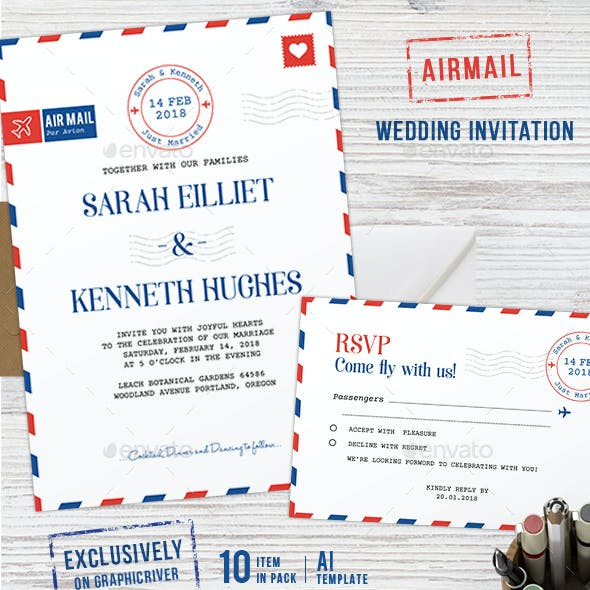 Calligraphy And Invitation Suite Wedding Templates