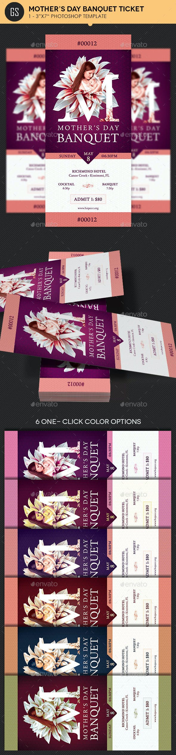 Mothers Day Banquet Ticket Template Miscellaneous Print Templates