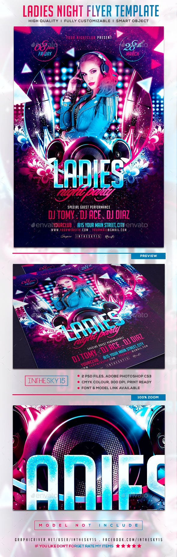 ladies night v2 flyer template by inthesky15 graphicriver