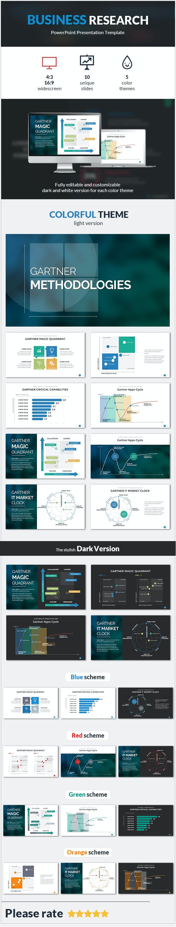 business research powerpoint template by sananik graphicriver