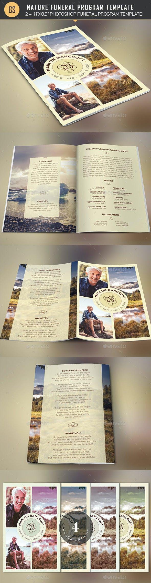 nature funeral program photoshop template v1 by godserv2 graphicriver