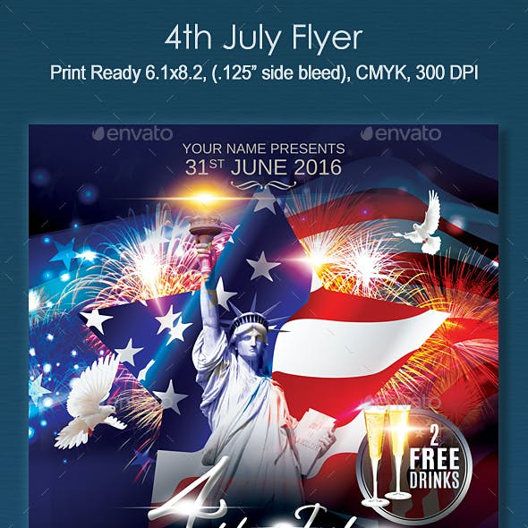 4th july event and 4th of july holiday events flyer templates