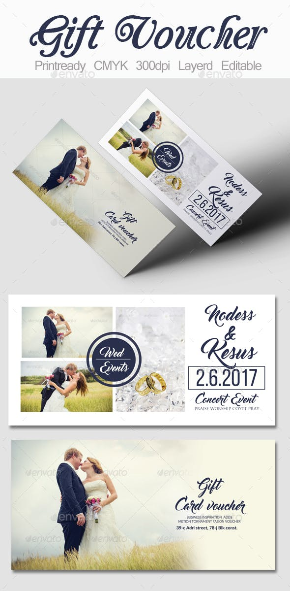 Wedding Gift Voucher Template By Designhub719 Graphicriver