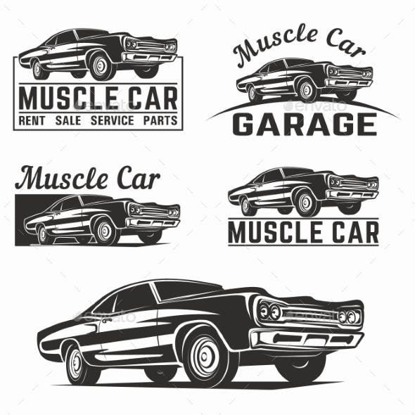 Muscle Car Emblems By Galimovma79 Graphicriver