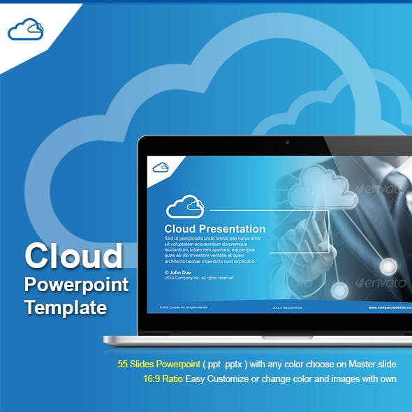 Cloud Powerpoint Template By Terusawa Graphicriver