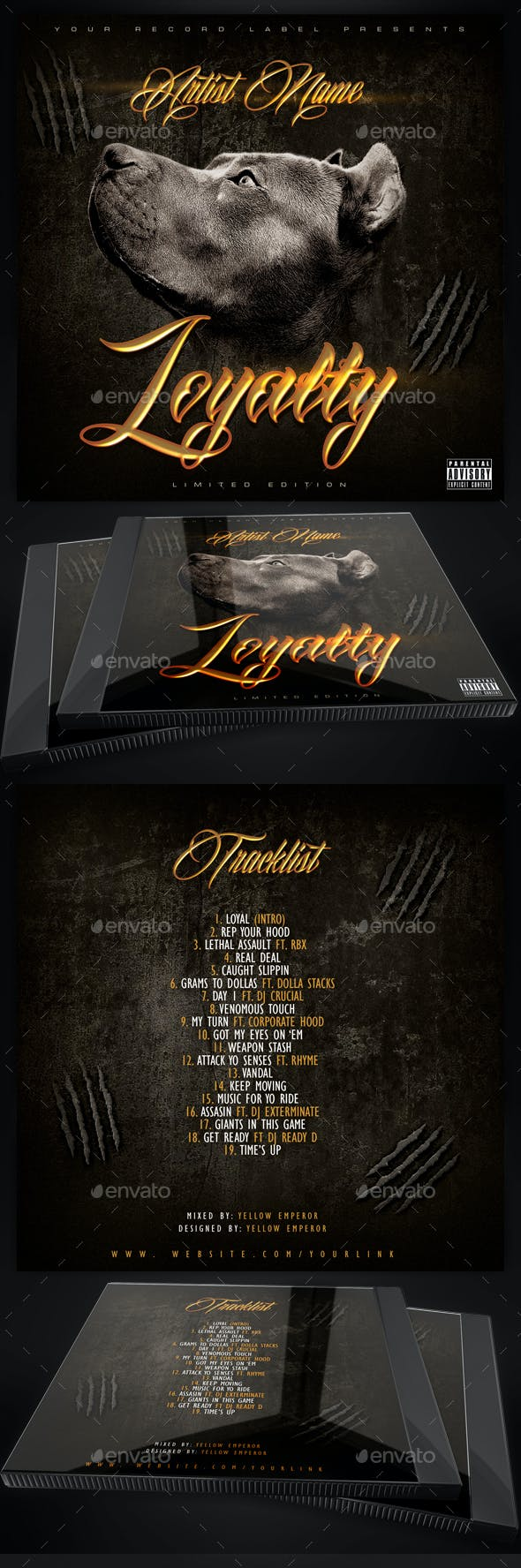 loyalty mixtape cd cover template by yellow emperor graphicriver