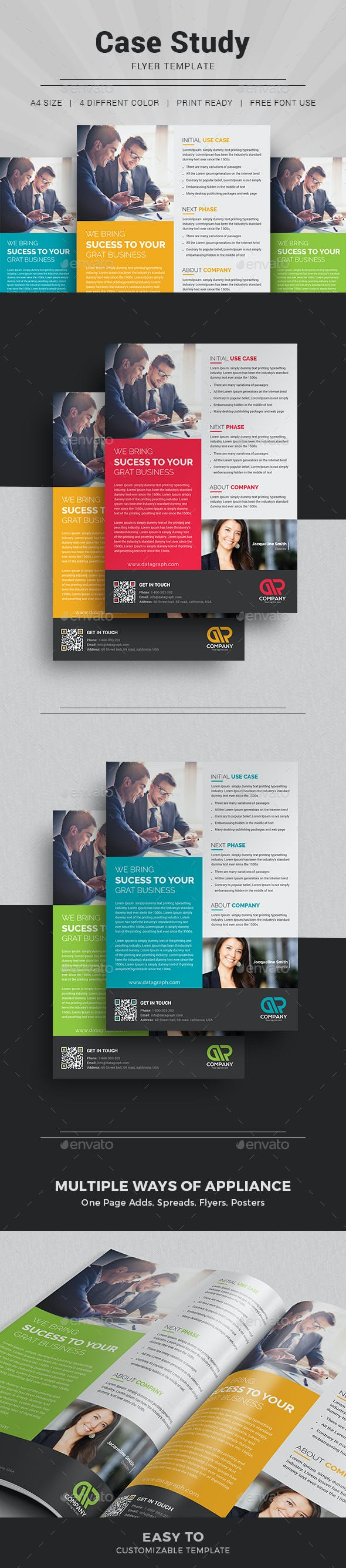 Case Study Template I Flyer By Themedevisers Graphicriver