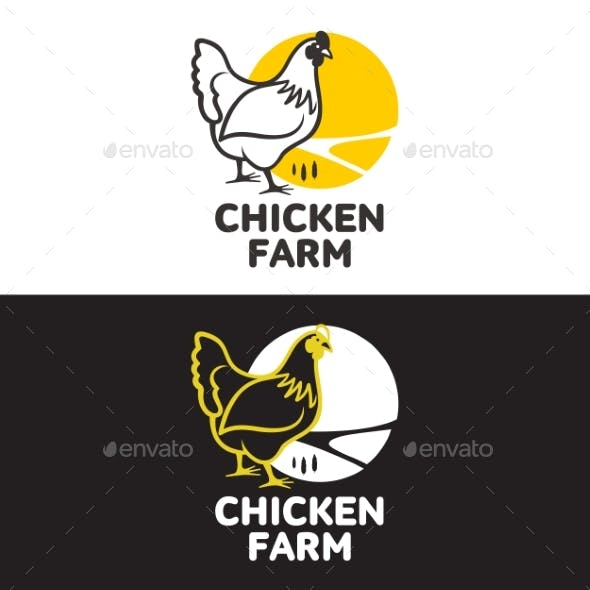 Set Of Logos With Chicken By Sabelskaya Graphicriver